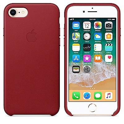 【Apple原廠公司貨】iPhone8 / 7皮革保護殼-RED