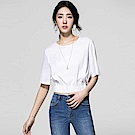 SUITANGTANG 五分寬袖短版上衣-共2色-米白