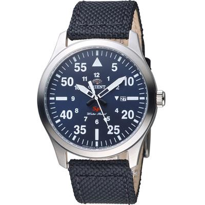 ORIENT 東方錶 SP系列 飛行運動石英錶-藍色/42mm