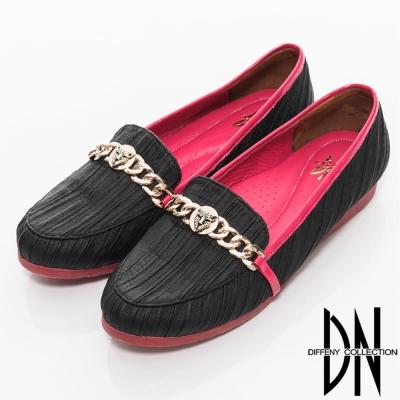 DN 時尚主張 全真皮質感虎頭裝飾包鞋 黑