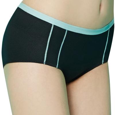 思薇爾 K.K Fit系列M-XL中低腰素面平口褲(黑色)