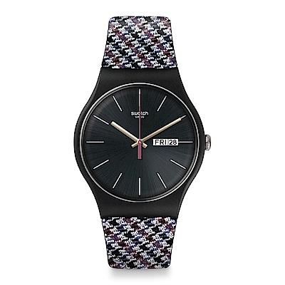 Swatch 英倫風情 WARMTH 斜紋軟呢手錶