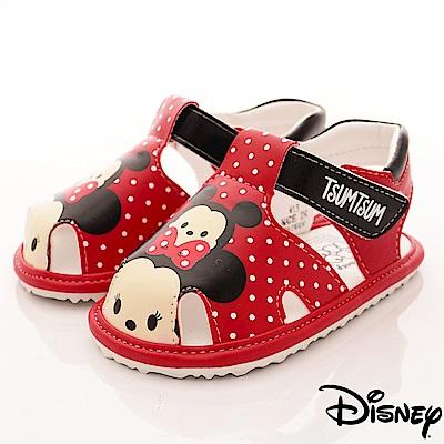 迪士尼童鞋 TSUMTSUM涼鞋款-FO18337紅(寶寶段)