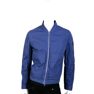 CERRUTI 1881 藍色剪裁休閒拉鍊外套
