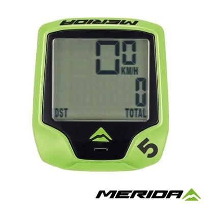 《MERIDA》美利達 有線碼表 5功能 綠 1097