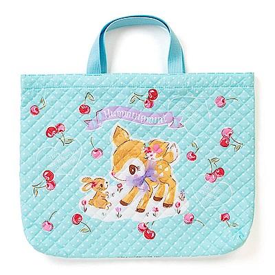 Sanrio 哈妮鹿日本製布面提袋/補習提袋(櫻桃點點)