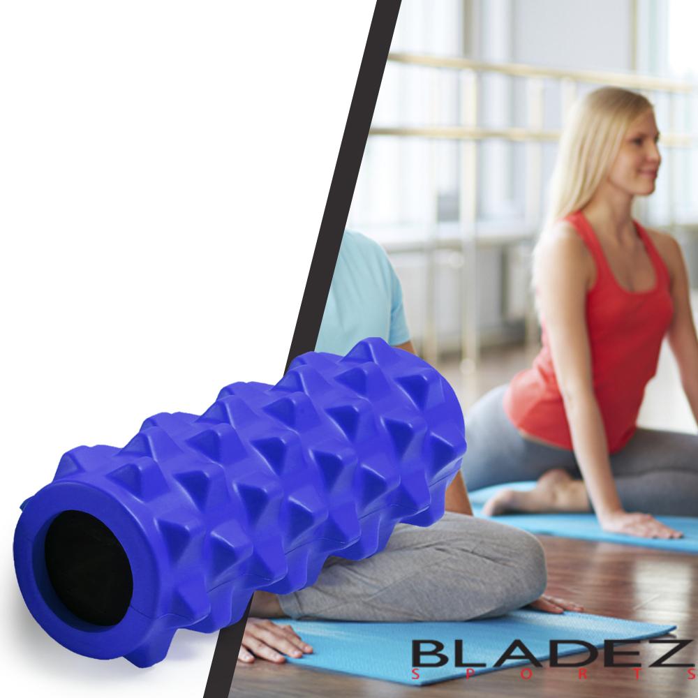 【BLADEZ】深層狼牙棒按摩滾筒-短版-藍色