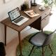 完美主義 雙抽工作桌/電腦桌/書桌(胡桃色)-120X55X71.5cm product thumbnail 1