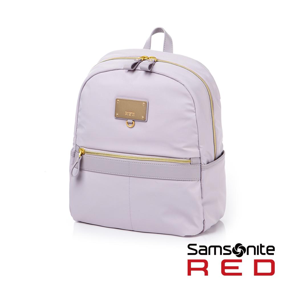 Samsonite RED AIRETTE經典輕盈大容量休閒女性筆電後背包-S10吋(紫)