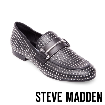 STEVE MADDEN-KAST-BLACK-鉚釘樂福鞋-黑色