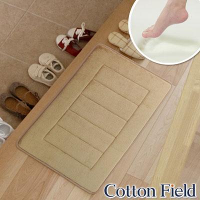 棉花田-CLOUD-舒壓記憶綿吸水防滑踏墊-淺褐色