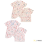 Nishiki 日本株式會社 蝴蝶結印花綁帶連身衣兩件組