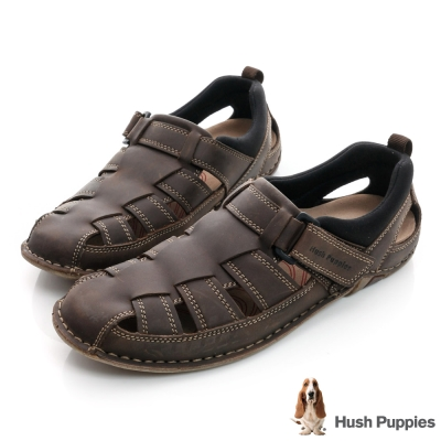 Hush Puppies LELLE 超軟Q舒適涼鞋-深咖啡