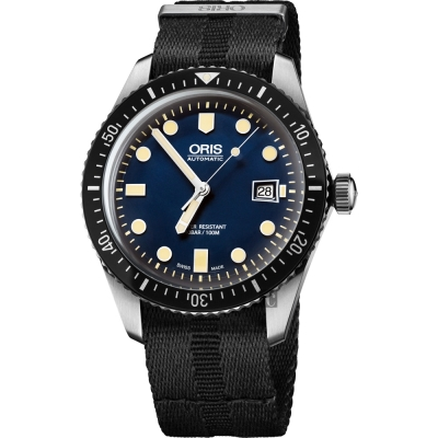 Oris豪利時 Divers Sixty-Five 1965 潛水系列機械腕錶-藍
