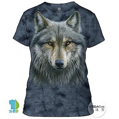 摩達客 美國進口The Mountain 勇戰之狼 短袖女版T恤