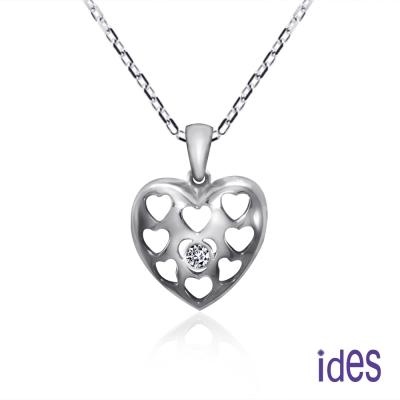 ides愛蒂思鑽石 鍾情。輕甜時尚3分美鑽項鍊