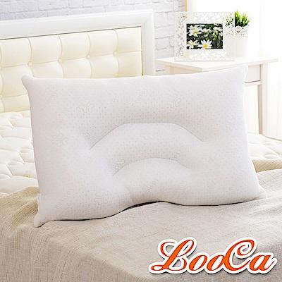 LooCa 舒鼾花漾透氣兩用乳膠枕1入