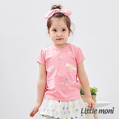 Little moni 糖果印圖棉T (2色可選)