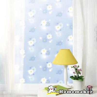 Decoin_彩繪窗貼 Blue flower (HN-GS06A)