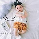 Baby unicorn 芥黃網紗荷葉短褲