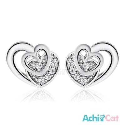 AchiCat 925純銀耳環 浪漫時光 純銀耳針