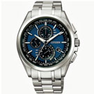 CITIZEN 光動能科技5局電波光動能腕錶(AT8050-53L)-藍黑/42mm