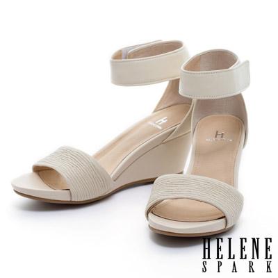 HELENE-SPARK-異材質拼接一字造型踝部繫