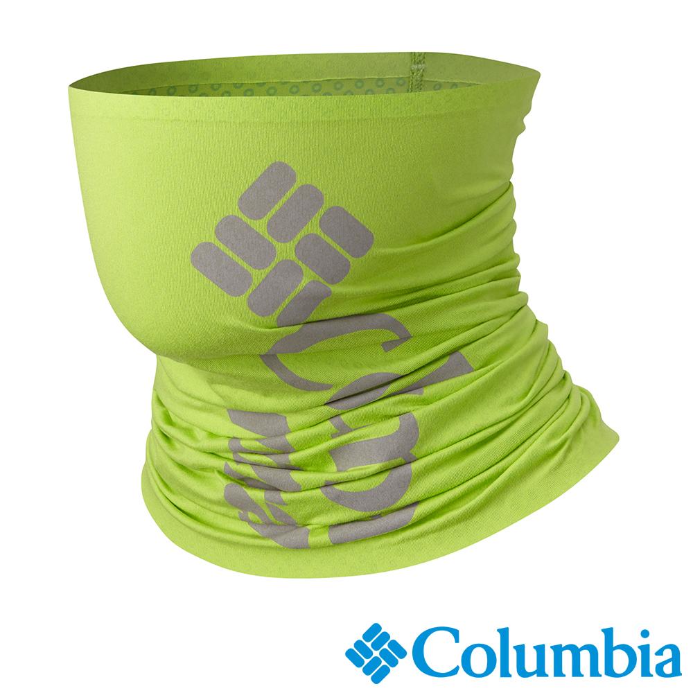 Columbia 哥倫比亞 男女-野跑防曬50涼感快排頸圍 蘋果綠 UCU00260AP