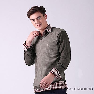 ROBERTA諾貝達 進口素材 台灣製 舒服柔軟 千鳥格紋羊毛衣 咖啡
