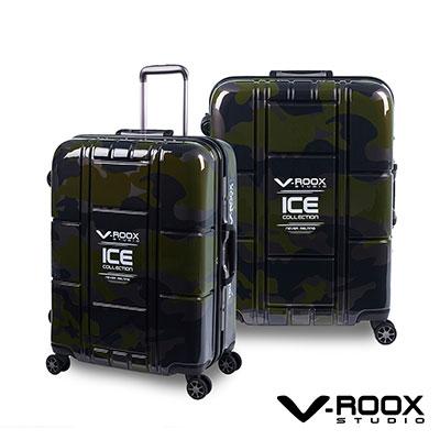 V-ROOX ICE  28吋 綠迷彩 不敗迷彩時尚硬殼鋁框行李箱