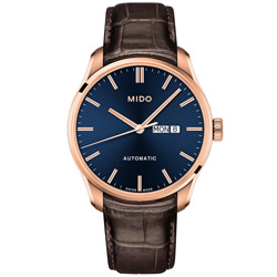 MIDO 美度 BELLUNA II 經典機械腕錶-金x藍/42mm