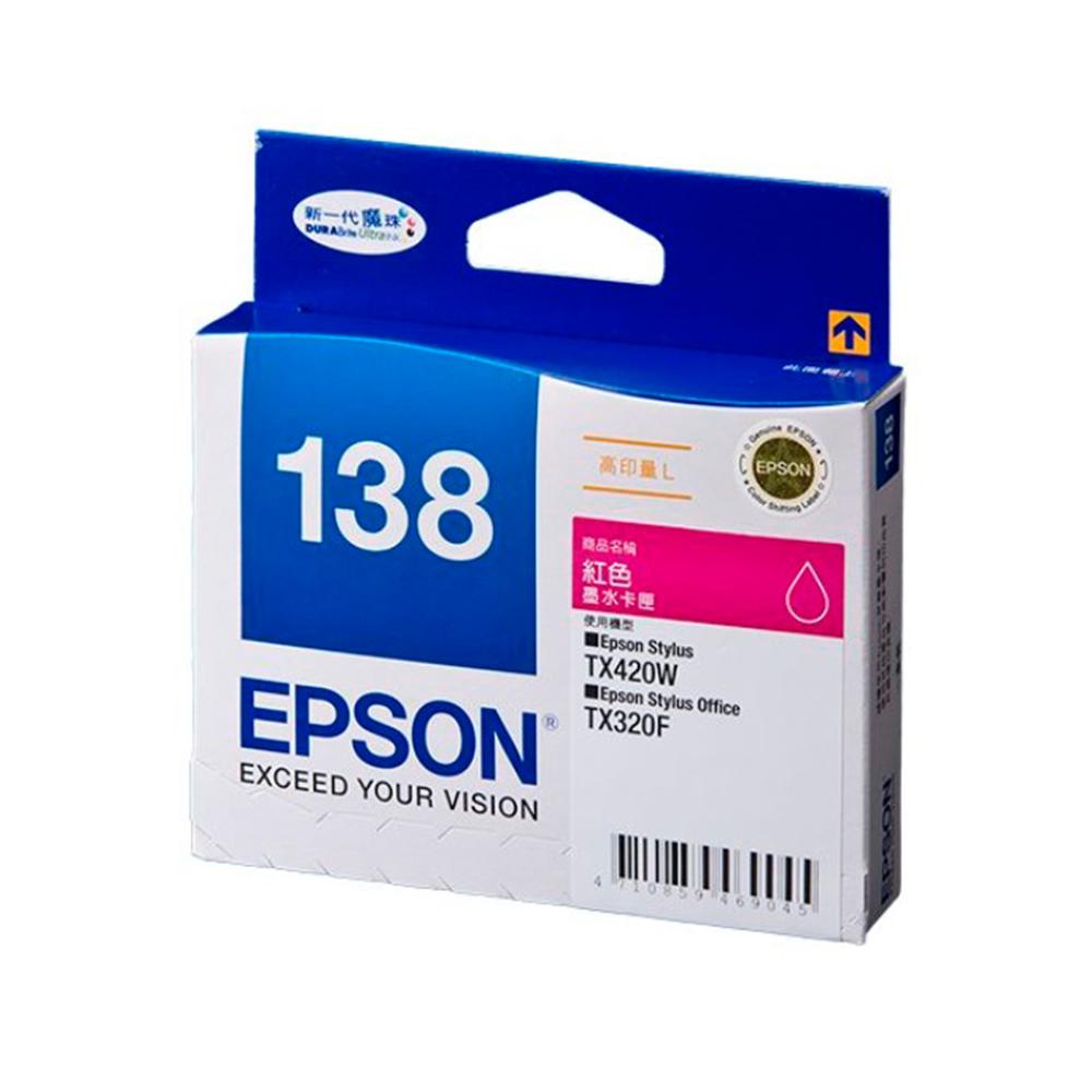 EPSON NO.138 高印量L 紅色墨水匣(T138350) @ Y!購物