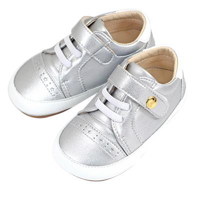 Swan天鵝童鞋-星星雕花休閒寶寶鞋 1531-銀