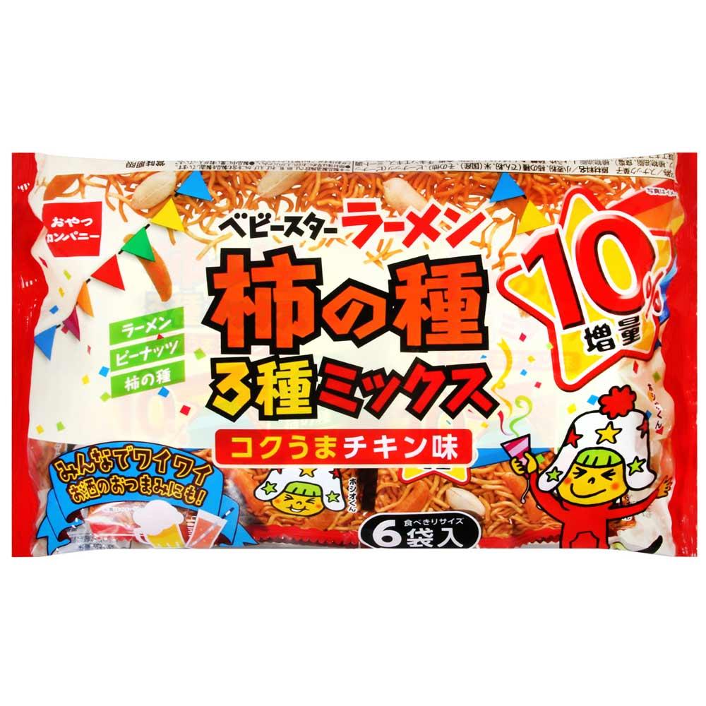 Oyatu 6袋入花生柿種雞汁點心麵(162g)