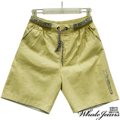 WHALE JEANS 男款聖誕氣息素色版面休閒短褲-2色