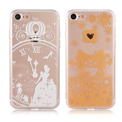 Disney迪士尼iPhone 7金蒔繪4.7雙料保護殼
