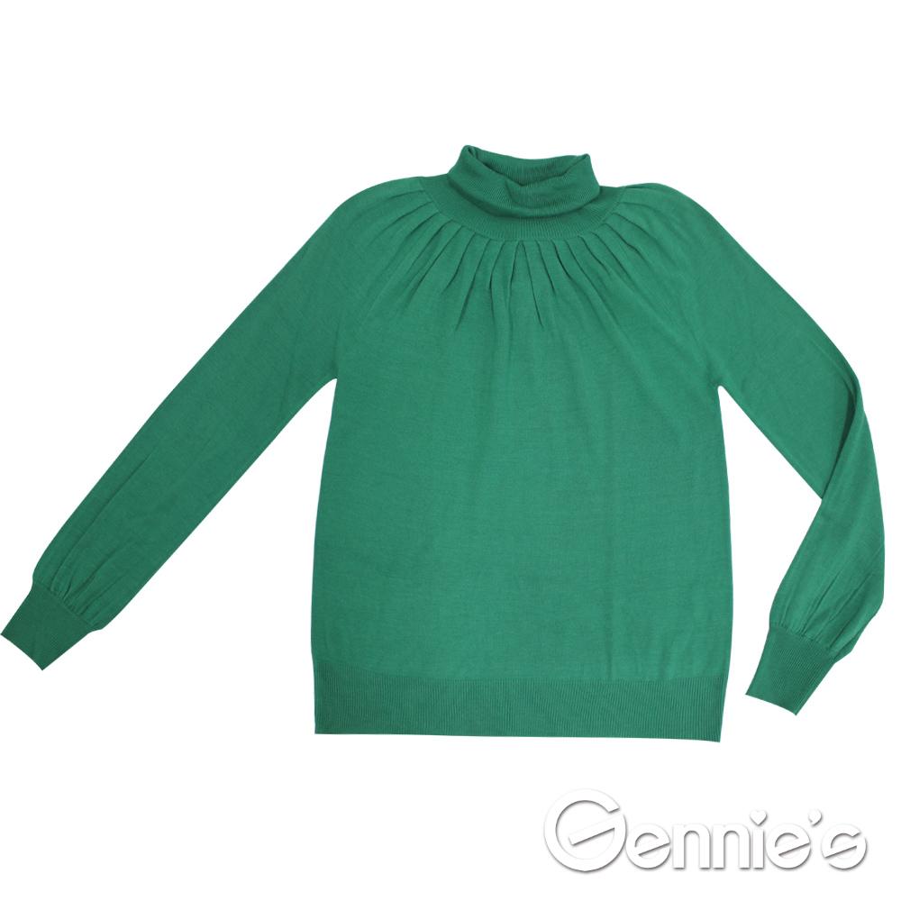 Gennie-s奇妮-010系列- 典雅素面秋冬孕婦上衣 (TST15)