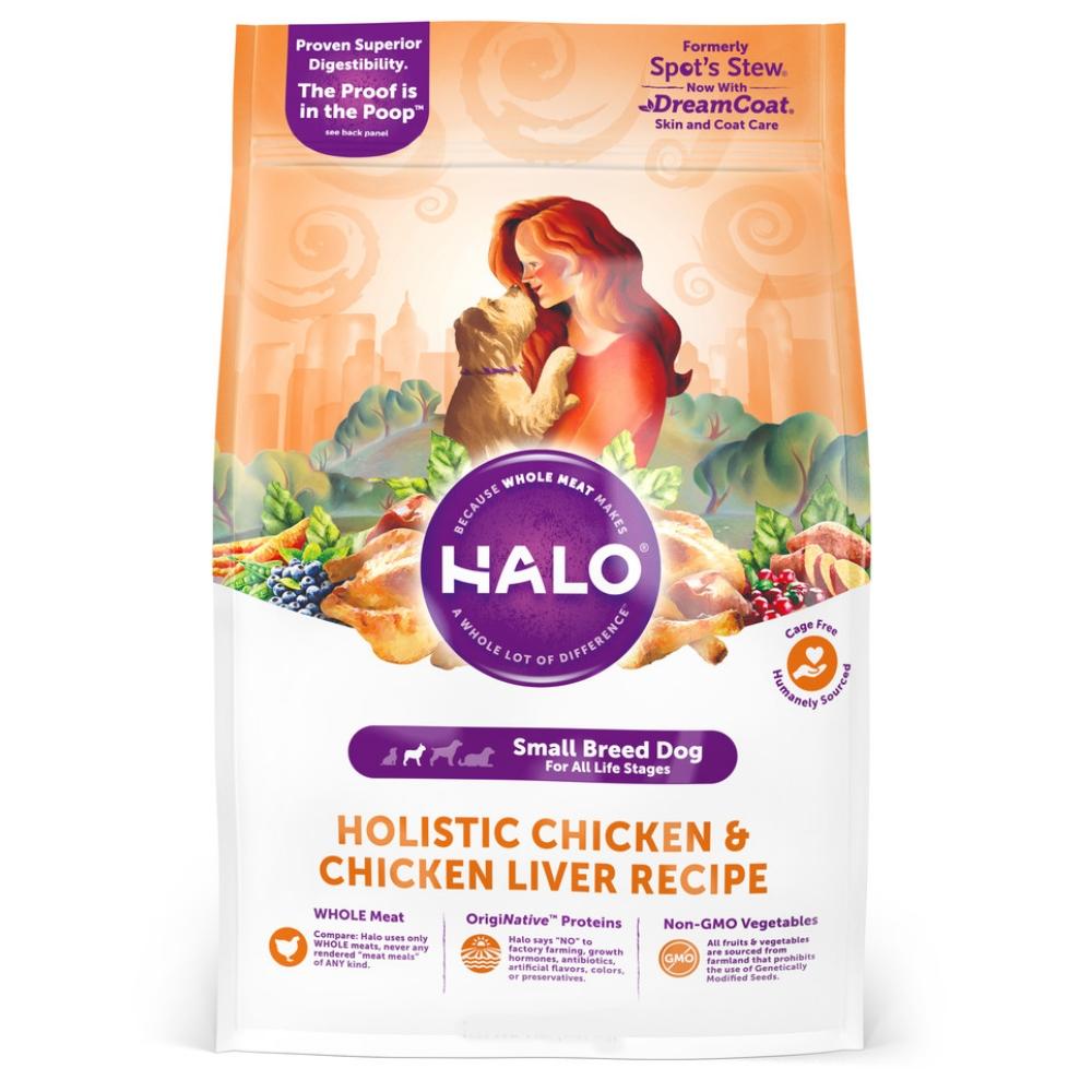 HALO嘿囉 小型及迷你犬燉食 新鮮雞肉燉豌豆+燕麥 4磅