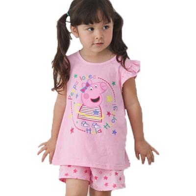 粉紅豬小妹短袖套裝 k 50124