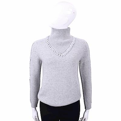 TSE 灰色穿繩細節設計喀什米爾毛衣(100%CASHMERE)
