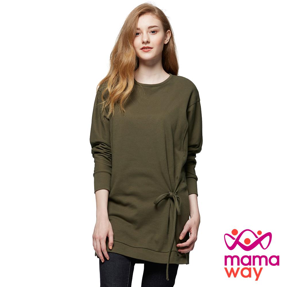 mamaway媽媽餵 寬鬆垂肩袖孕哺上衣(共2色)