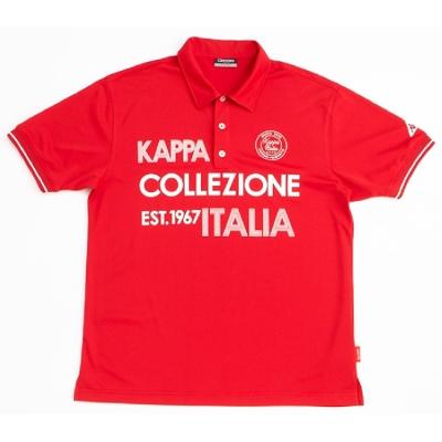 KAPPA 義大利時尚ALLDRY吸濕排汗型男彩色短袖POLO衫 大紅