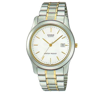 CASIO 世界富豪時尚指針紳士錶(MTP-1141G-7A)-白面/38mm