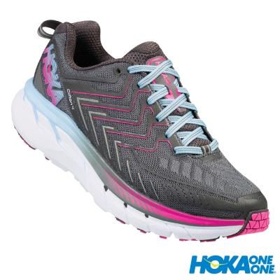 HOKA ONE ONE 跑鞋 Clifton 4 女 路跑 超緩震 灰粉