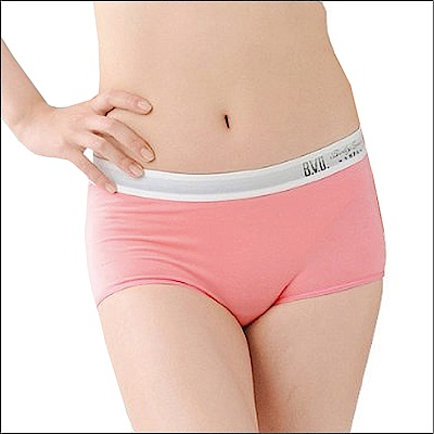 BVD Ladies  COTTON BASIC系列 1分平口內褲(橘色)