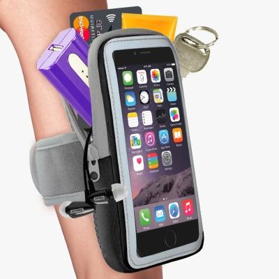 雙層運動手機臂套-防水反光觸控-黑色X5.7吋以下通用 活力揚邑