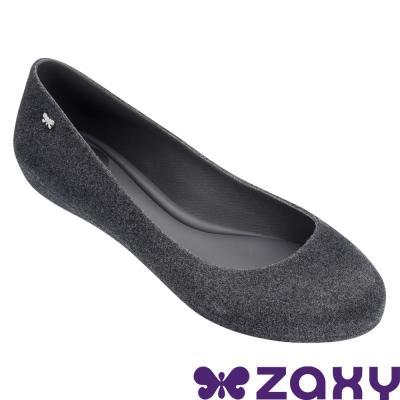Zaxy 巴西 女 蜜絨舞伶平底娃娃鞋-深灰色