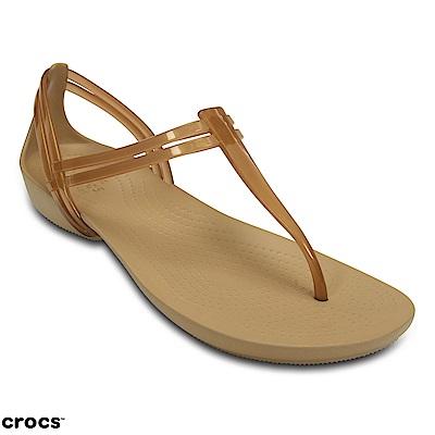 Crocs 卡駱馳 (女鞋) 伊莎貝拉T型涼鞋 202467-854