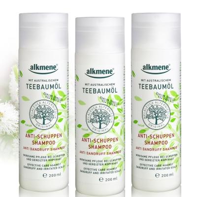 德國alkmene 天然茶樹精油控屑保濕洗髮精200ml三入
