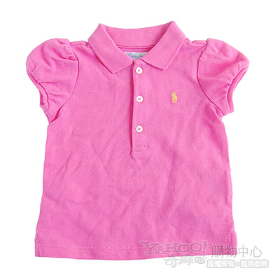 RALPH LAUREN 粉紅色公主袖POLO衫(9M)